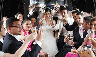 Party Bus Suburbs, For your Wedding, your corporate event, For your Anniversary, For Prom, For Meetings, Group Transportation, Party Bus Chicagoland Suburbs