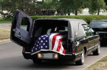 All American Limo Funeral Service, American Flag, Veterans Funeral