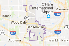 Limo Service Bensenville, Limo O'Hare to Bensenville, Bensenville Limo to Downtown Chicago, Book, Hire, Rent, Bensenville IL Limousine Services