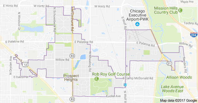 Limo Service Prospect Heights, Limo O'Hare to Prospect Heights, Prospect Heights Limo to Downtown Chicago, Book, Hire, Rent, Prospect Heights IL Limousine Services
