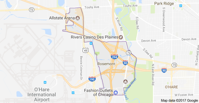 Limo Service Rosemont, Limo O'Hare to Rosemont, Rosemont Limo to Downtown Chicago, Book, Hire, Rent, Rosemont IL Limousine Services