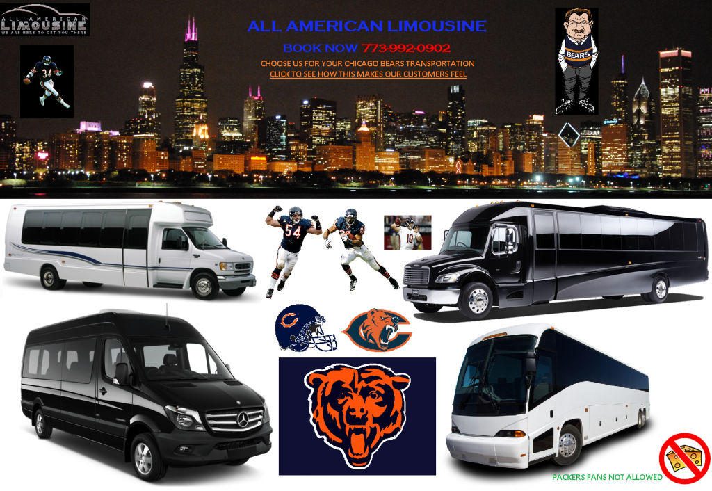 Party Bus O'Hare, Chicago, Limo Bus Chicago, Shuttle Bus IL, Party Bus IL, Book, Hire, Rent, Chicago Bears Transportation, Soldier Field